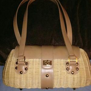 Etienne Aigner vintage wicker handbag